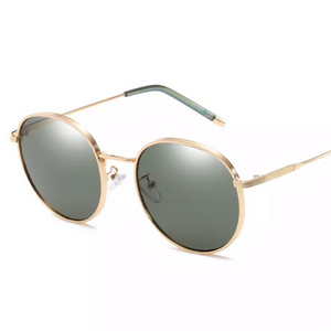BITZ VINTAGE POLARIZED ROUND SUNNIES SUNGLASSES - GREEN IN STOCK