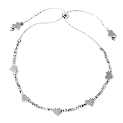 BITZ Mini Heart Metal Bead Bracelet - perfect for bat mitzva!