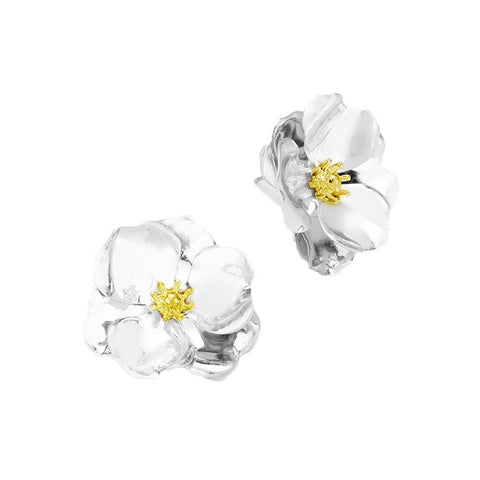 BITZ METAL FLOWER STUD EARRING 2.0