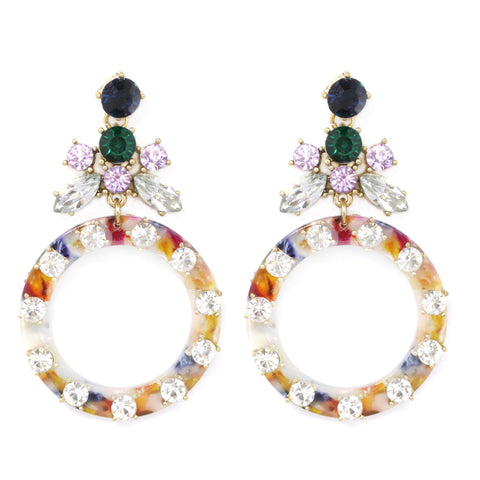 BITZ STATEMENT EARRING - MULTI IN STOCK!