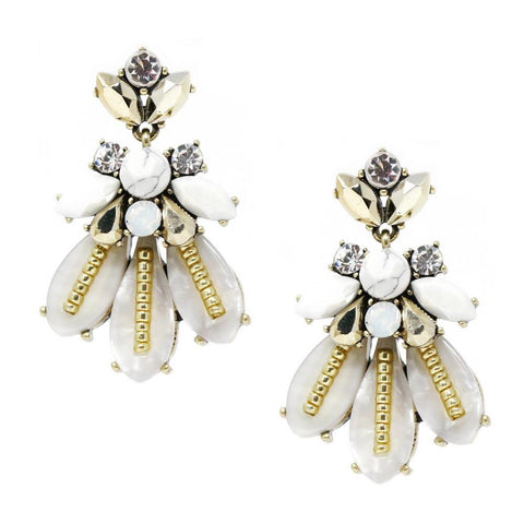 BITZ MINI STATEMENT EARRING - WHITE