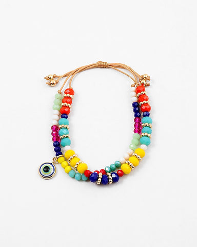 BITZ BEADS EVIL EYE FRIENDSHIP BRACELET