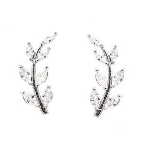 BITZ LEAF EAR CRAWLER EARRING