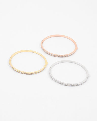 BITZ DELICATE BANGLE - CZ