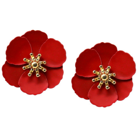 BITZ Color  Flower Stud Earrings