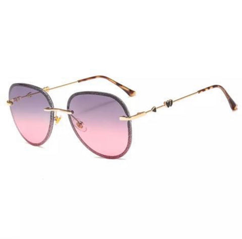 BITZ GLITTER AVIATOR SUNNIES UV400