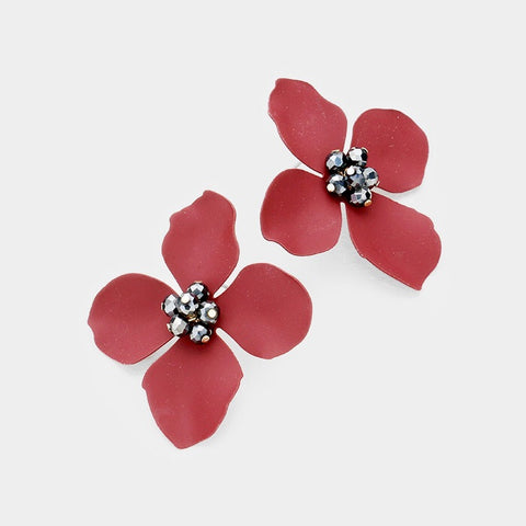 BITZ FALL FLOWER STUD EARRING