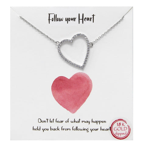 BITZ Tell Your Story: Follow Your Heart Pendant Simple Chain Necklace