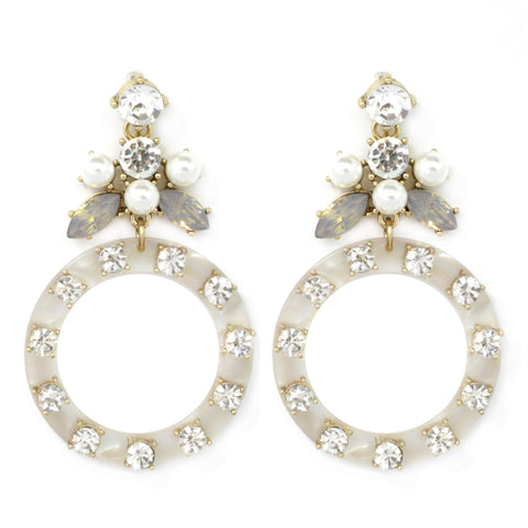 BITZ STATEMENT EARRING - IVORY IN STOCK!
