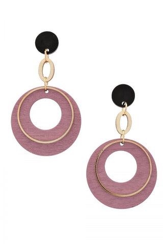 BITZ WOOD EARRING