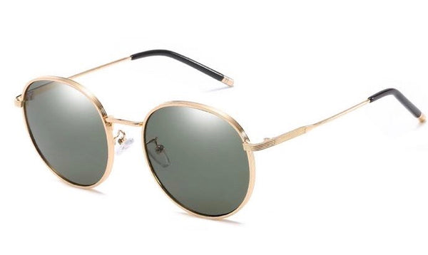 BITZ VINTAGE POLARIZED ROUND SUNNIES SUNGLASSES GREEN - IN STOCK!