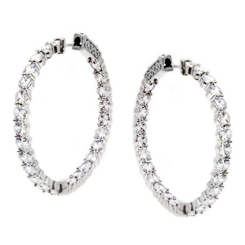 BITZ CZ HOOP EARRING - NOW IN THREE SIZES!