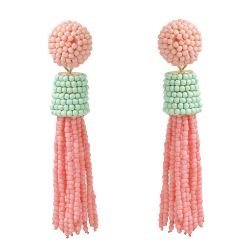 TASSEL EARRING - COLORBLOCK