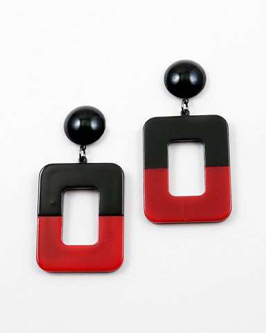 BITZ RECTANGLE EARRING