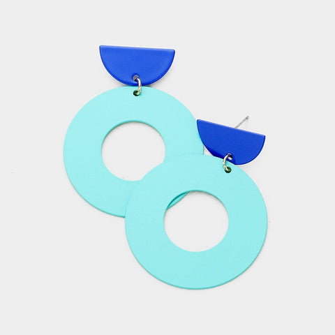 GEOMETRIC MODERN CUT OUT EARRING