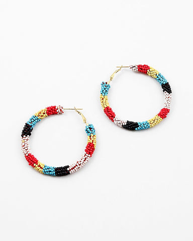 BITZ BEADED HOOP EARRING