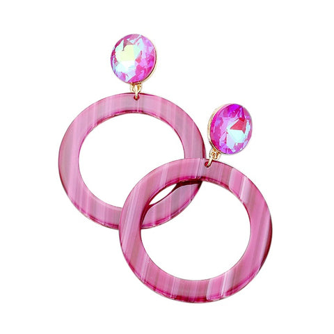 BITZ GEM STATEMENT EARRING - NEW!