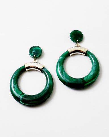 BITZ RESIN CIRCLE OVERSIZED STATEMENT EARRING