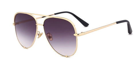 BITZ LUXE AVIATOR SUNNIES - IN STOCK! - GOLD W/ GREY-ISH LENS