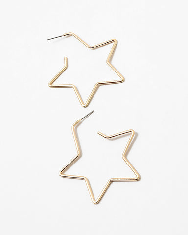 BITZ STAR HOOP EARRINGS