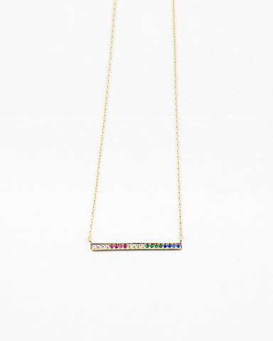 BITZ DELICATES RAINBOW BAR NECKLACE