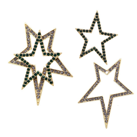 BITZ DOUBLE SIDED STAR STUD EARRING