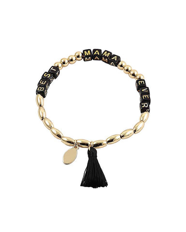 BITZ BEST MAMA EVER STRETCH BRACELET - TWO COLORS