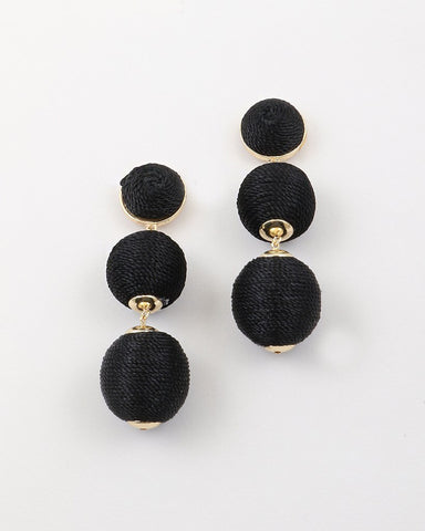 BON DROP EARRINGS - BLACK