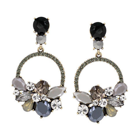 BITZ STATEMENT ROUND DROP EARRING