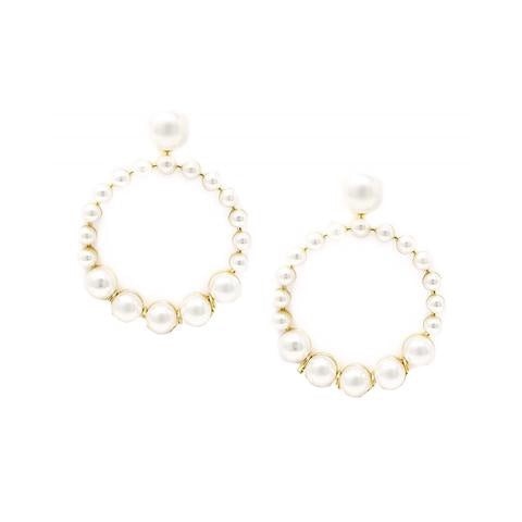 BITZ PEARL STATEMENT EARRING