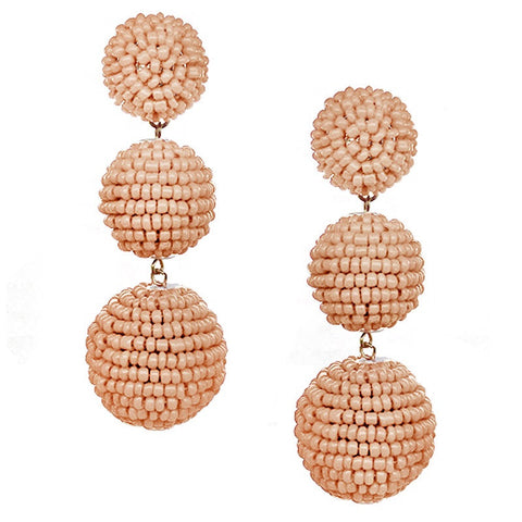 BEADED BON DROP Earrings - 5 COLOR OPTIONS