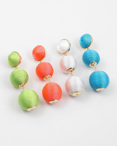 BON DROP EARRINGS - NEON
