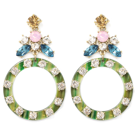 BITZ STATEMENT EARRING  GREEN - IN STOCK!