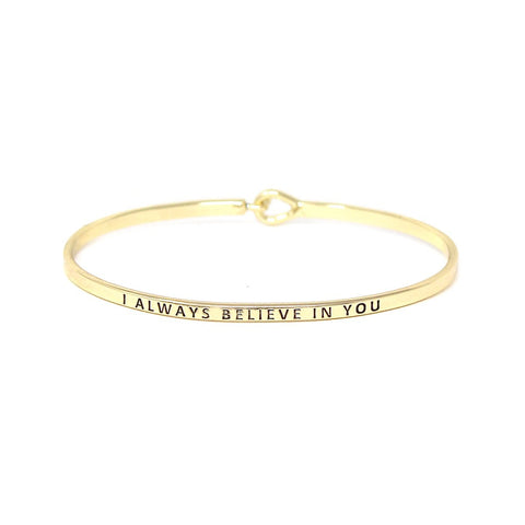 BITZ I ALWAYS BELIEVE IN YOU AFFIRMATION BRACELET