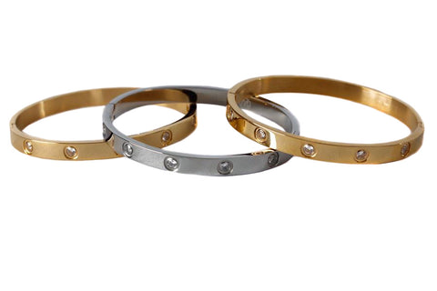 SET IN STONE BANGLE - THREE COLOR OPTIONS