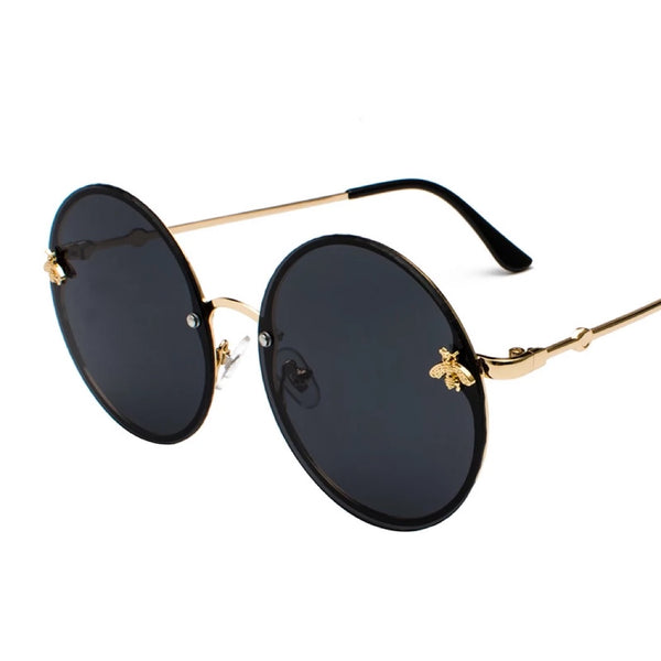 BITZ BEE ROUND SUNNIES RIMLESS -  BLACK FALL EDITION