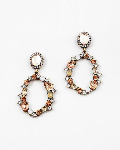 BITZ VINTAGE VIBE STATEMENT EARRING - CHAMPAGNE