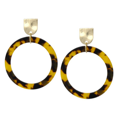 FALL TORTOISE DROP EARRING