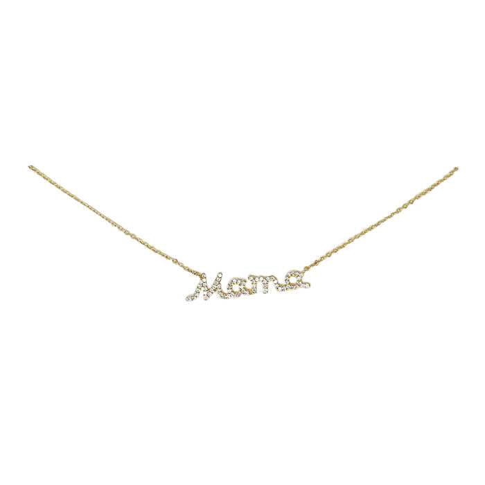 BITZ MAMA NECKLACE - CZ + 925 STERLING SILVER IN STOCK!