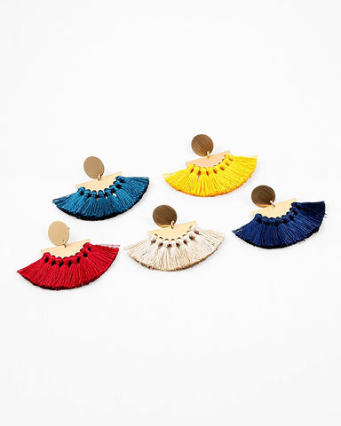 BITZ FAN TASSEL EARRING - FOUR COLORS