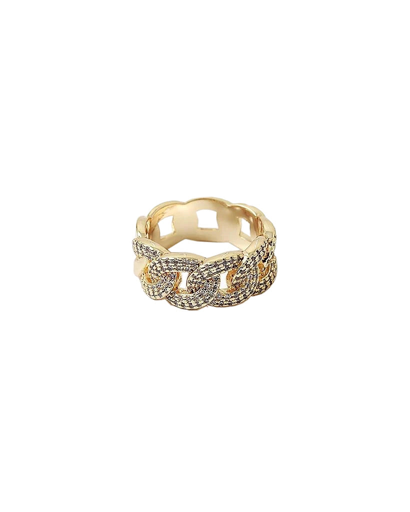BITZ CZ CUBAN LINK CHAIN RING - reversible!
