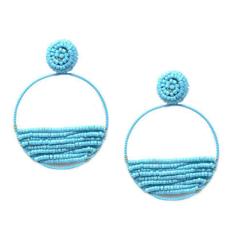 BITZ BEADED STATEMENT EARRING - TURQUOISE
