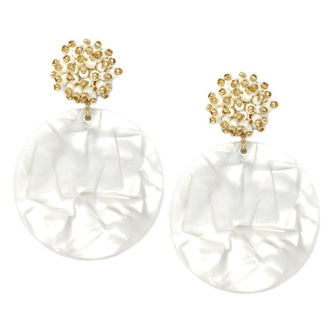 BITZ Cluster Acetate Disc Earrings