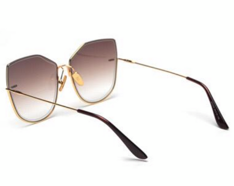 BITZ OVERSIZED OMBRÉ STATEMENT SUNNIES - BROWN