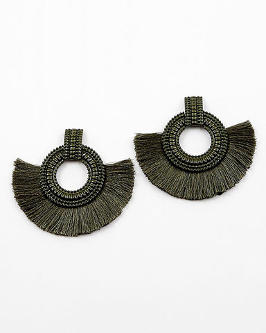 BITZ FAN TASSEL EARRINGS