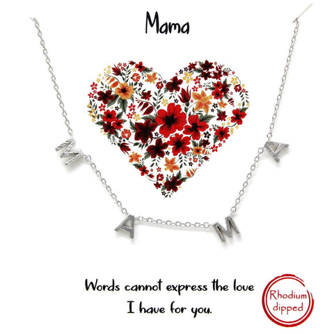 BITZ MAMA Spaced Letter Charm Short Chain Necklace