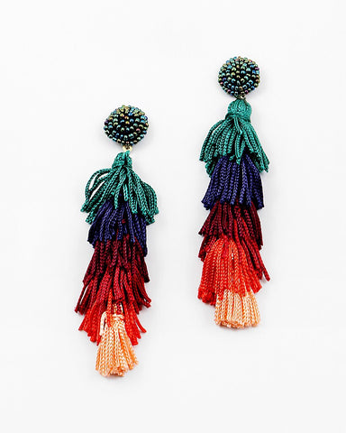 BITZ PARROT INSPIRED TASSEL EARRINGS