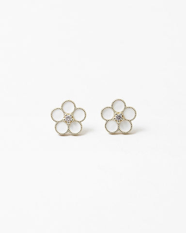 BITZ  FLOWER STUD EARRING - TWO OPTIONS