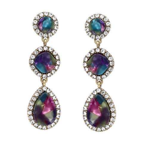 BITZ TRIPLE GLAM EARRING