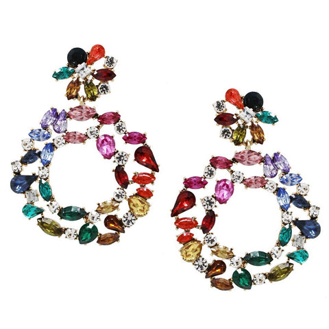 BITZ X LIZZY RAINBOW GLAM STATEMENT EARRING - IN STOCK